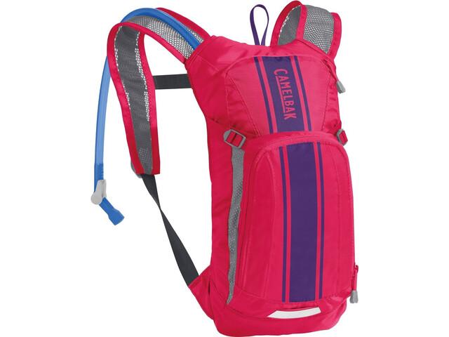 CamelBak Mini M.U.L.E. Protector de pecho 1,5L Niños, hot pink/purple stripe